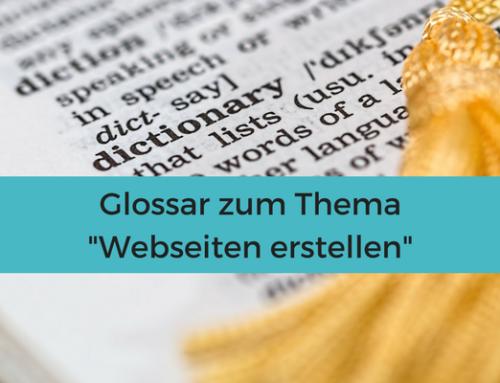 Glossar Webseiten erstellen
