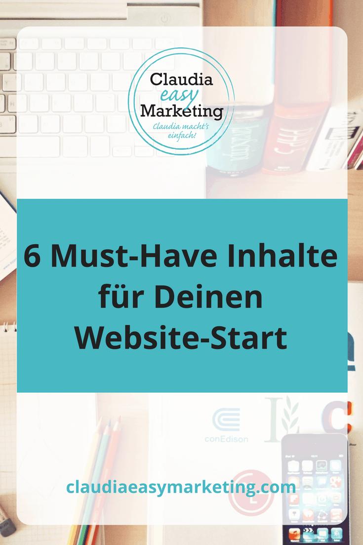Was muss auf meine Webseite? Das sollte unbedingt auf Deiner Webseite zu finden sein!