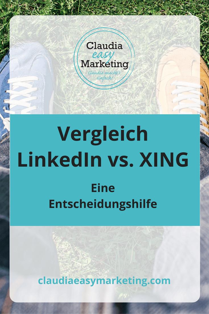 B2B Netzwerke Linkedin und Xing im Vergleich.