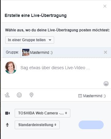 Erstelle eine Live-Übertragung