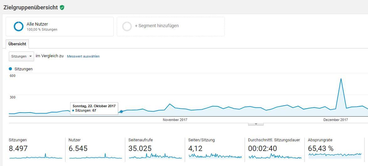 Google Analytics Bericht Zielgruppe