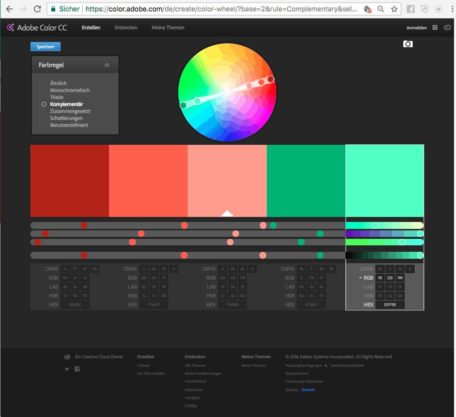 Die richtige CI Farbe finden