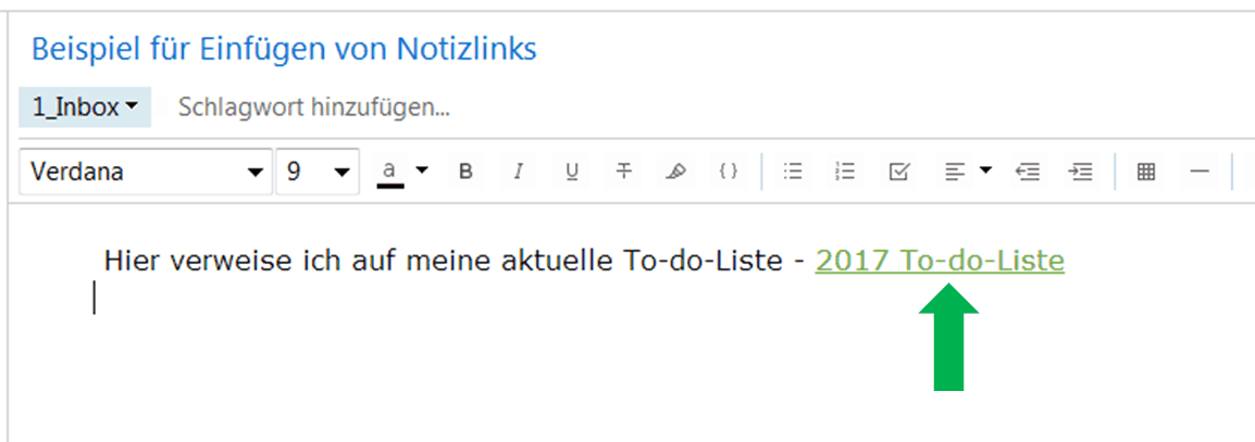 Evernote interne Notizlinks