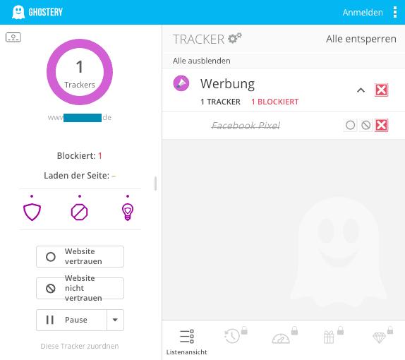 Tracker mit Ghostery finden