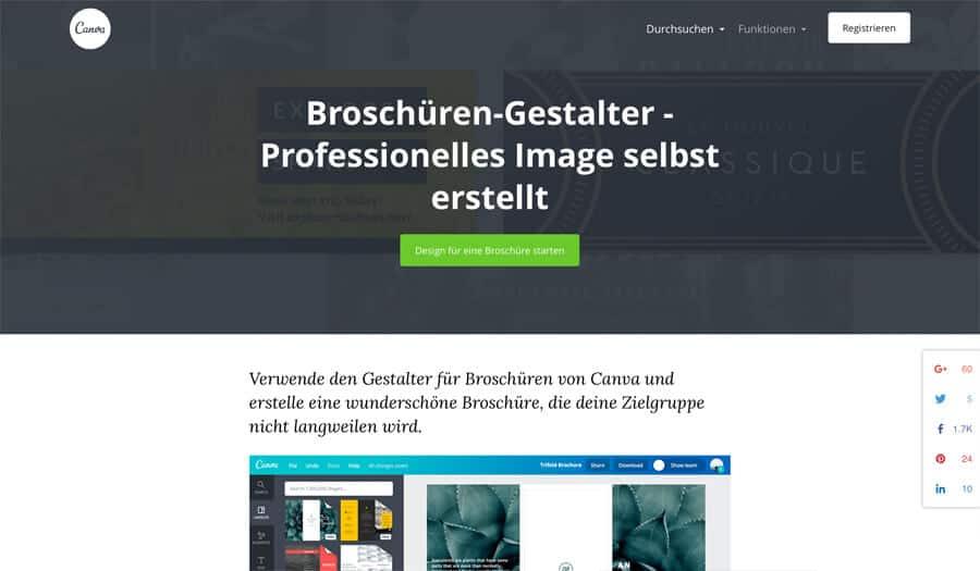 Online Broschüre erstellen mit Canva