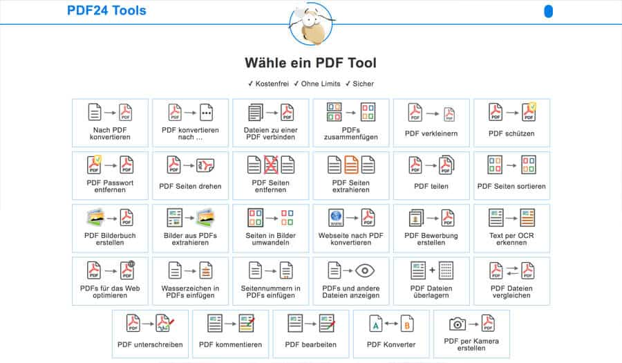 Online Broschüre erstellen - PDF Tools