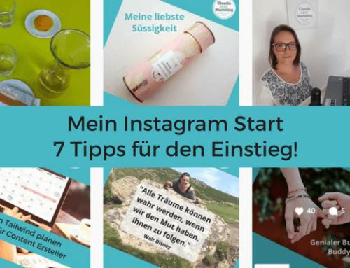 Mein Instagram Start – 7 Tipps für Dich