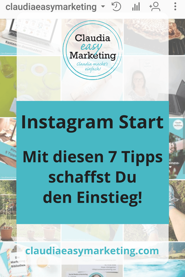 Instagram Start Tipps Pin