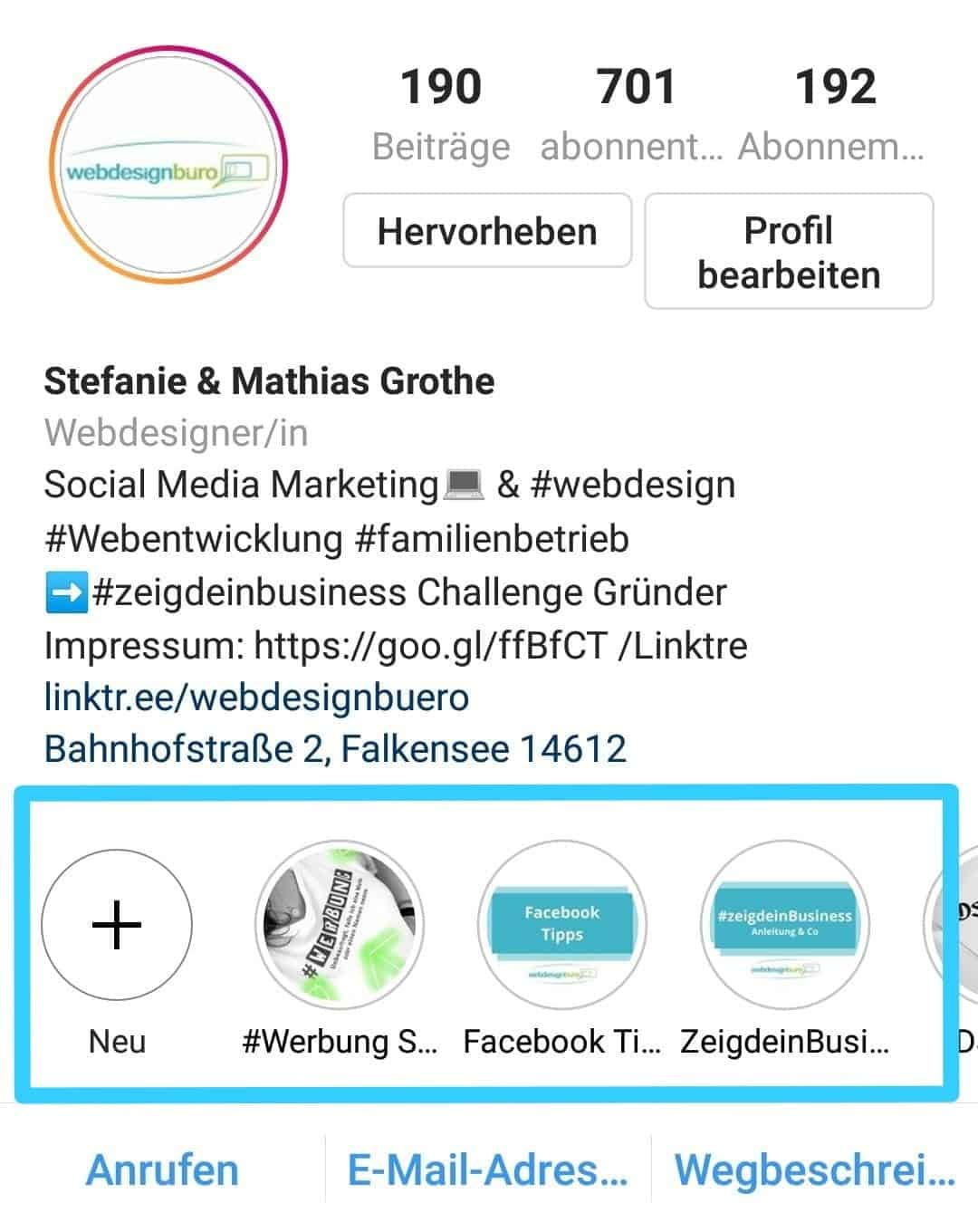 Instagram Account webdesignbüro