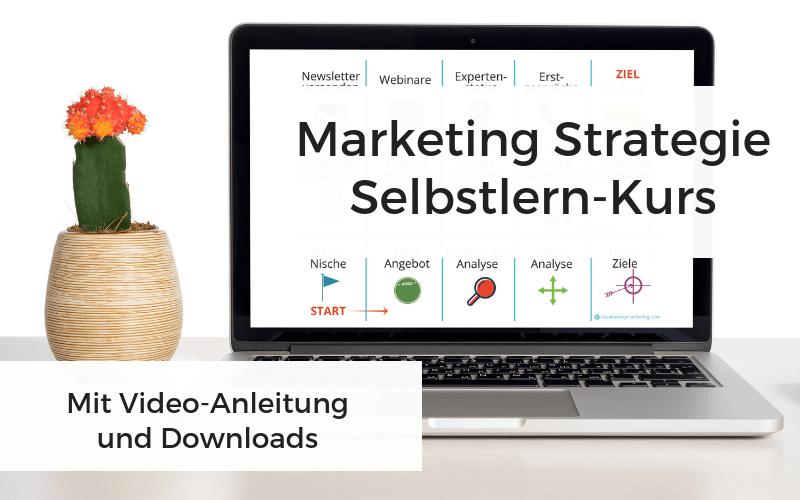 Marketing Strategie Selbstlern-Kurs