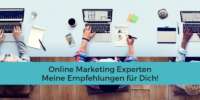 Online Marketing Experten mit Laptops