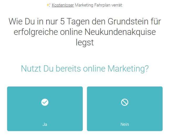 Der kostenlose Marketing Fahrplan