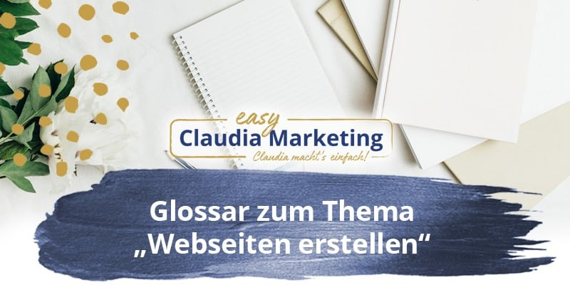 Glossar Webseite erstellen
