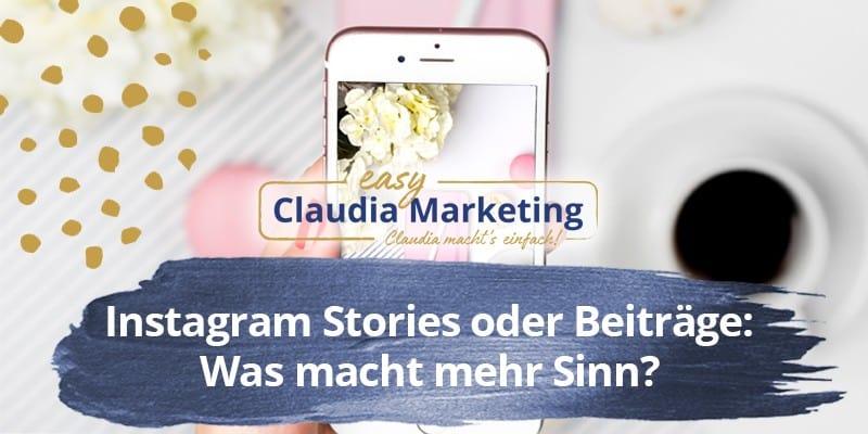 Instagram Stories oder Beiträge