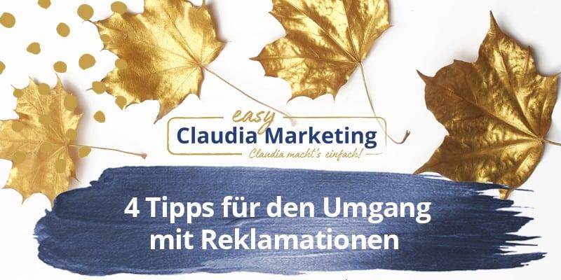 Tipps bei Reklamationen