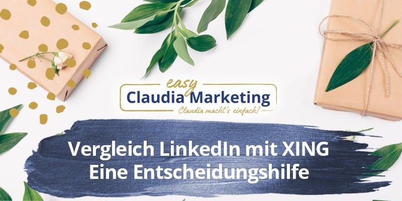 Vergleich LinkedIn mit XING