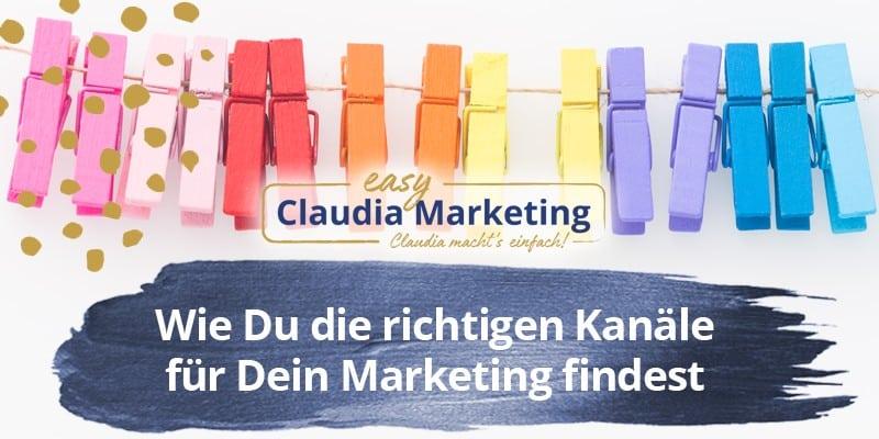 Marketing Kanäle finden
