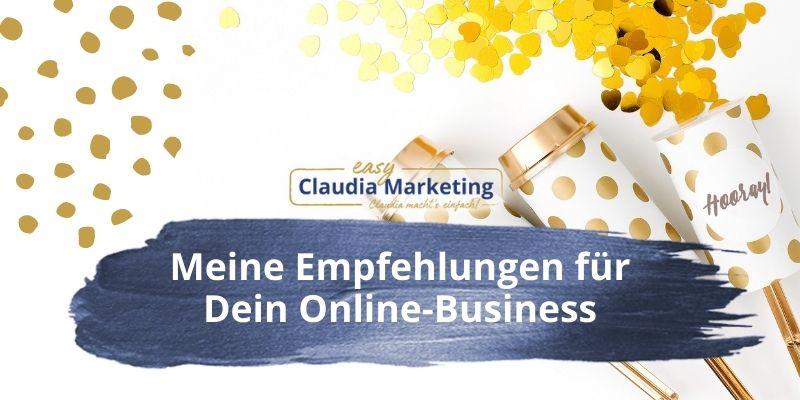Meine Empfehlungen für Dein Online-Business